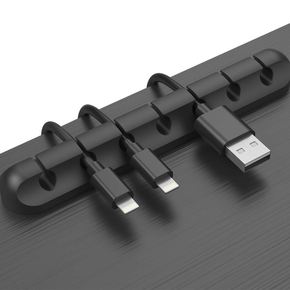 matte black adhesive cable management strip