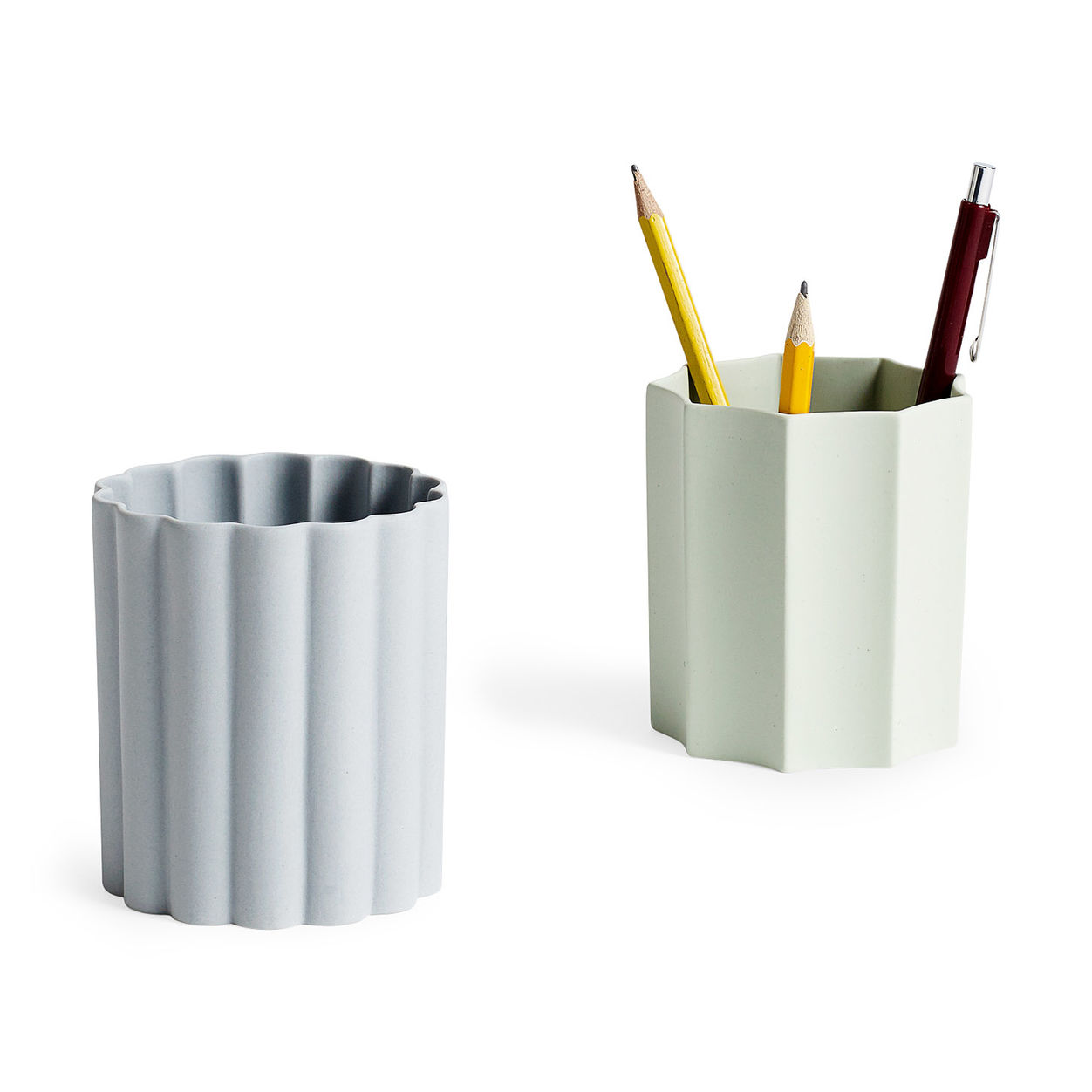 uniquely shaped geometric pencil holders